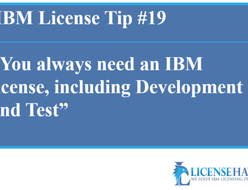 IBM License for Development and Test Environment